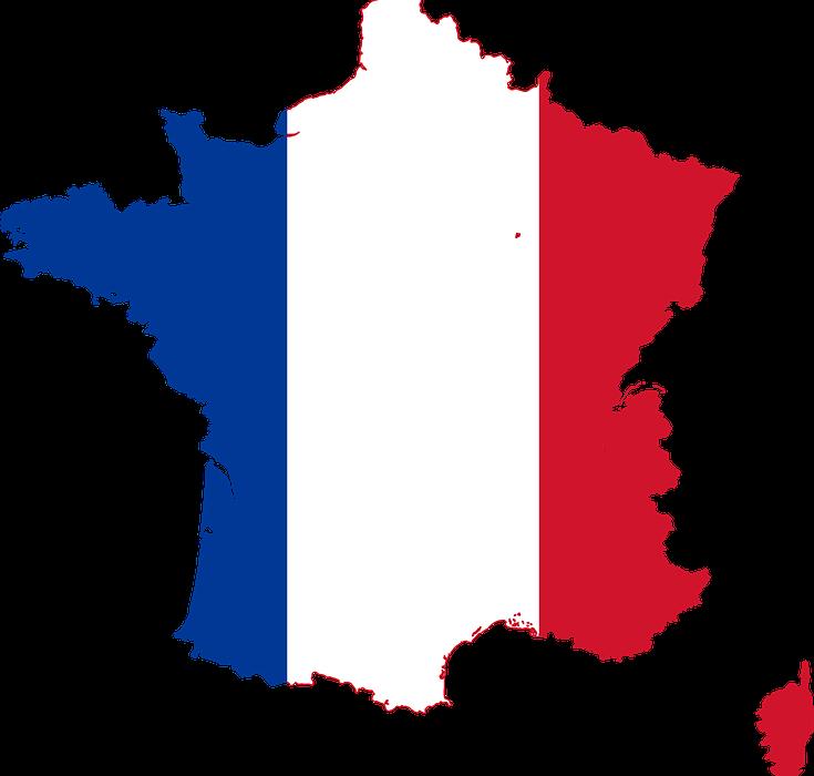 En bleu, blanc et en rouge : la carte de la France !